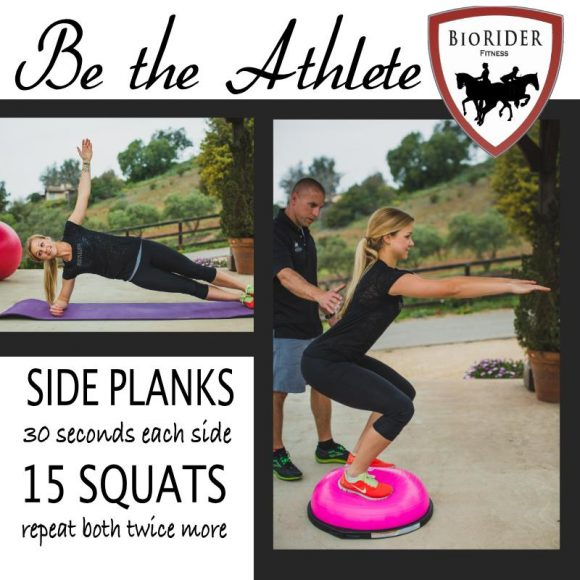 Be the athlete-Side plank-Squat